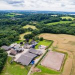 Arial photo of Cresswell Barn Farm